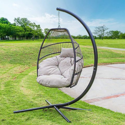 Barton Outdoor Hanging Egg Chair Swing Lounge Chair