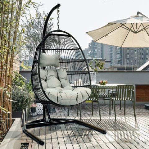 ToMe Foldable Swing Chair with Stand
