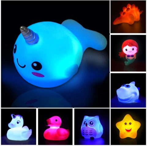 Light Up Floating Rubber Toys