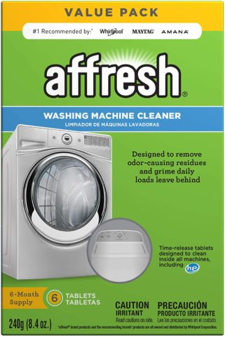 Affresh W10501250 Washing Machine Cleaner, 6 Tablets Cleans Front Load and Top Load Washers, Including HE
