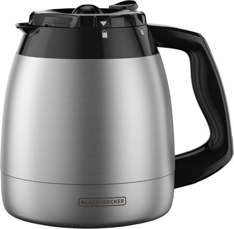 BLACK+DECKER 12-Cup Replacement Thermal Carafe with Duralife Construction, Stainless Steel,