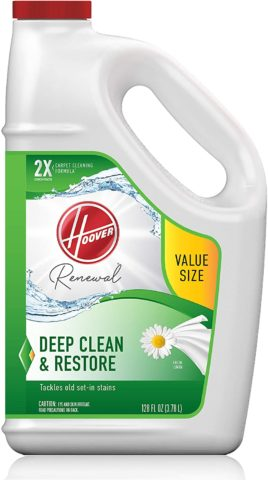 Hoover Renewal Deep Cleaning Carpet Shampoo, Concentrated Machine Cleaner Solution, 128oz Formula, AH30932, White