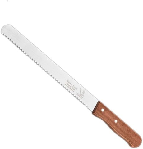 bread knife12-inch serrated serrated bread knife, non-stick stainless steel toaster knife and non-slip handle, traditional manual forging